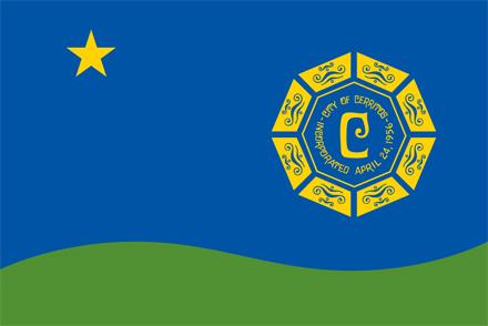city of cerritos city flag