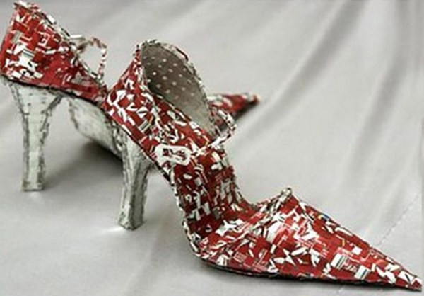 Tons of handcrafted ideas to help fulfill your passion for for Shoe sculpture ideas