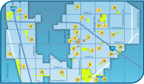 City of Cerritos | Map / Facilities Info