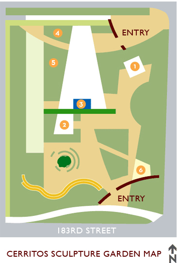Map of Cerritos Sculpture Garden