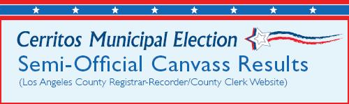 City Of Cerritos Cerritos Municipal Election March 3 2020